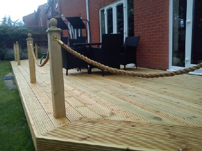 Abbey decking systems fencing services derby for Garden decking rope fittings