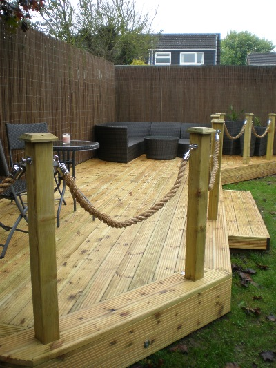 Abbey decking systems fencing services derby for Garden decking fencing
